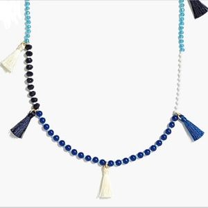 J. Crew Beaded tassel necklace